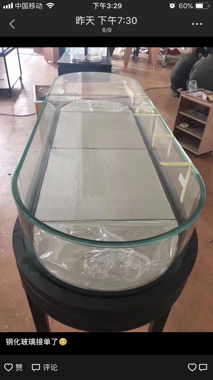 钢化圆台面玻璃